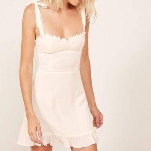 NWT Reformation Christine Dress. Ivory. Size 0.